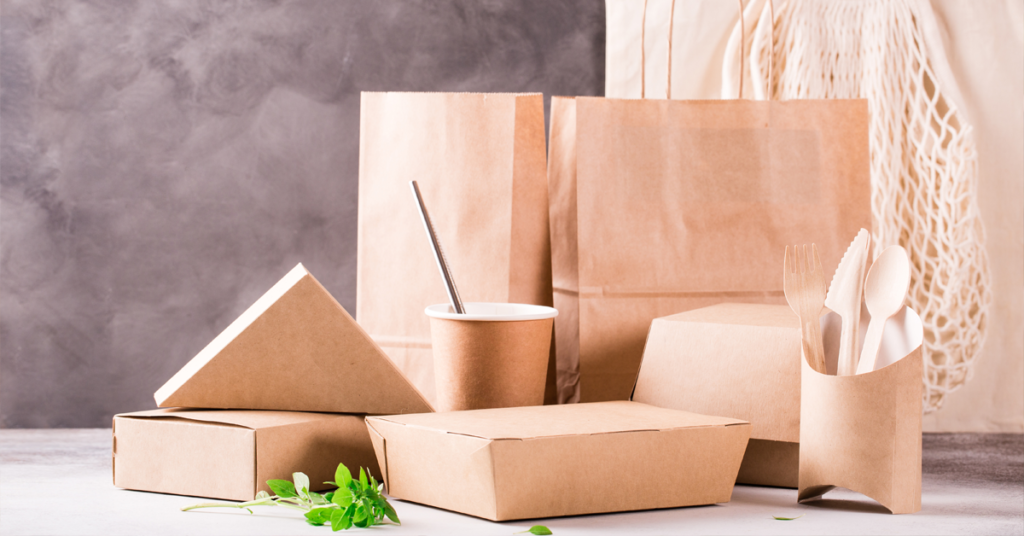 A picture of the types of packaging used by independent businesses